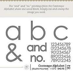 Contempo Alphabet