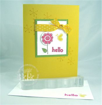 Make & Take Hello Card