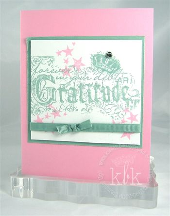 Gratitude in Pink and Sage