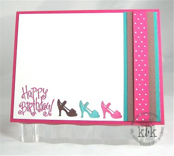 Stampin Up Shoes Card