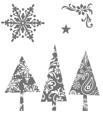 Stampin Up Patterned Pines