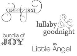 Little Angel Stamp Set