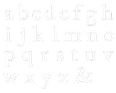 Jumbo Outline Alphabet