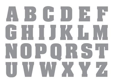 Letters Stamp Brush Set