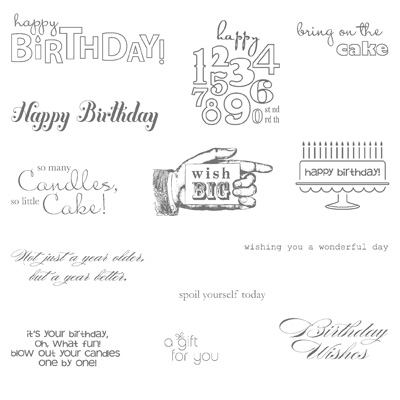 Bring on the Cake - Clear-Mount Stamp - Clear-Mount Stamp Set - by Stampin' Up!
