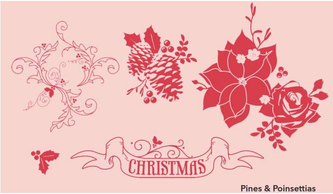 Pines & Poinsettias