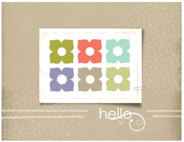 Fruit And Flowers Designer Greeting Card Template -- Digital Download